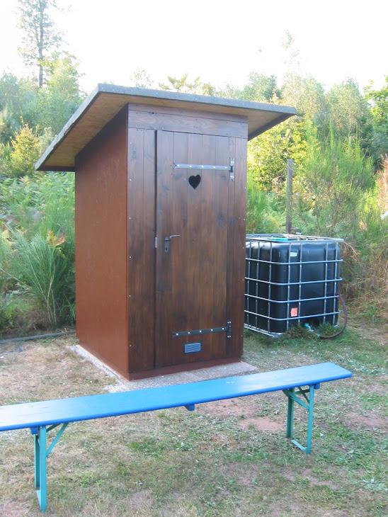 Besucher Kompost-Toilette