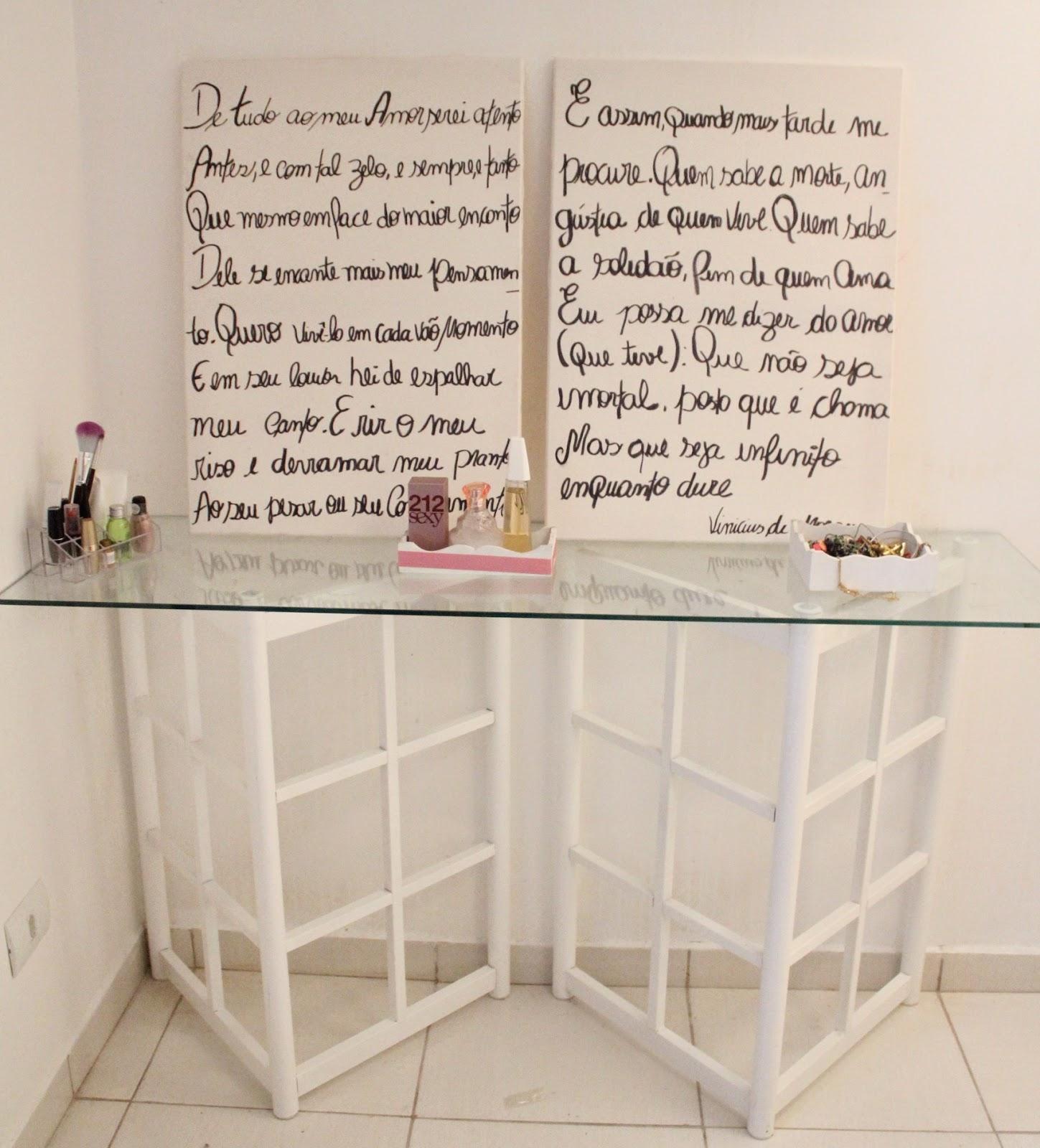 Telas de pintura escritas cabeceira de cama de casal
