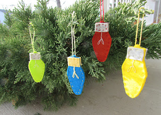 felt light bulb ornaments