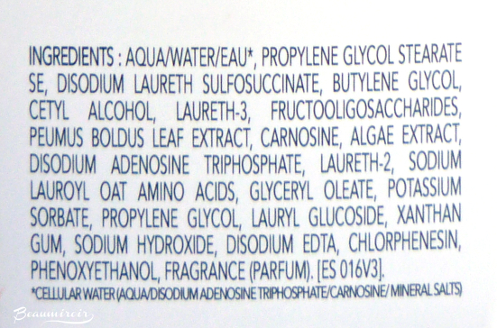 Institut Esthederm Gentle Deep Pore Cleanser: ingredients list