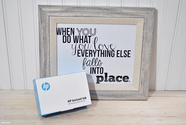 When you are designing a lot, you need a printer that you can rely on. Luckily I also have an ink service I can rely on as well. Try HP Instant Ink for free & grab free printables...