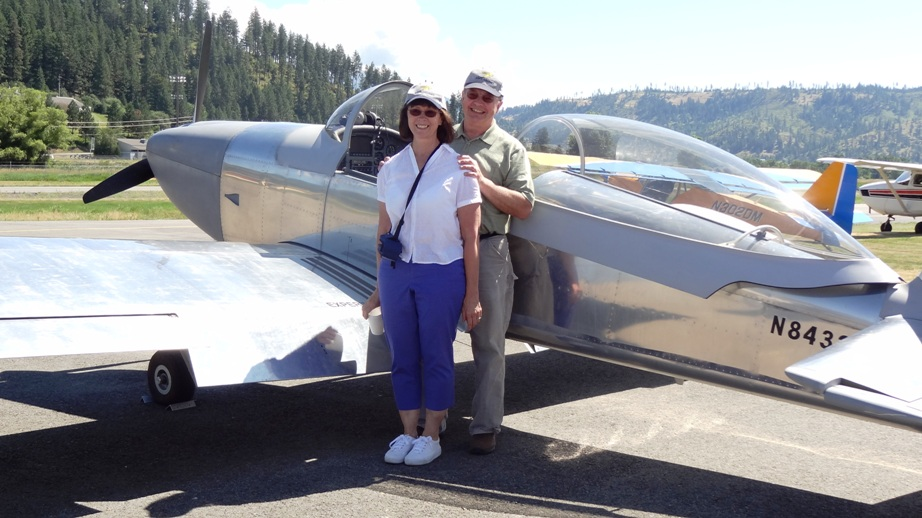 With my husband Vince and his RV8 in 2014 (St. Maries, Idaho)