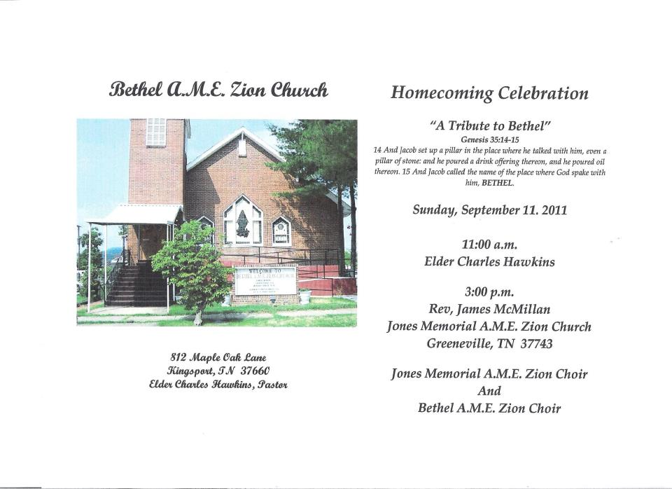 Douglass riverview news and current events bethel ame church bethel ame church homecoming announcement in kingsport altavistaventures Gallery