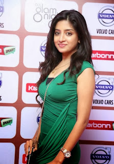 Poonam Kaur Spotted in Green Tight Gown at an Event
