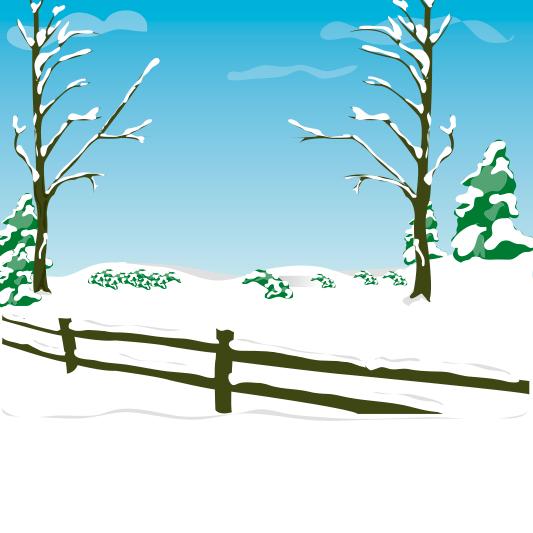 Sendero nevado - ilustración