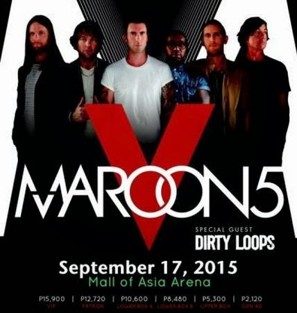 Maroon 5 Concert 2015 at the Mall of Asia Arena in Pasay City