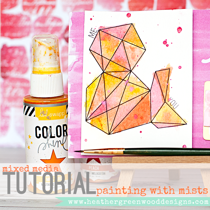 Heather Greenwood | painting with mists or spray inks #mixedmedia #tutorial