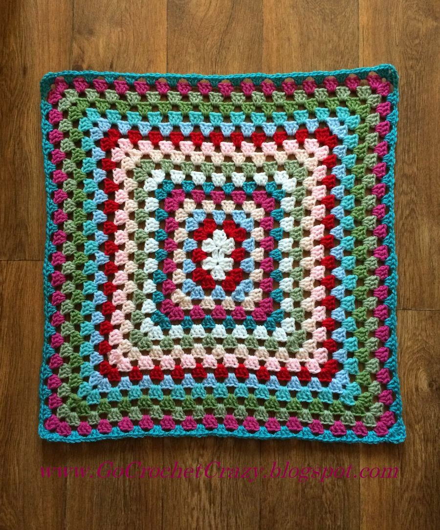 Go Crochet Crazy -- Progress on Cath Kidston Inspired Giant Granny Crochet Afghan