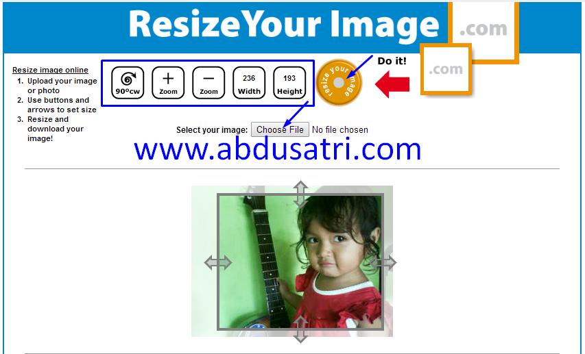 cara rezize foto compress ukuran foto online
