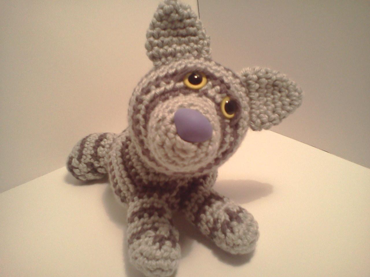 Amigurumi Tabby Cat : Serendipity Creative: Emily Baby Silver Tabby Cat AmiPal ...