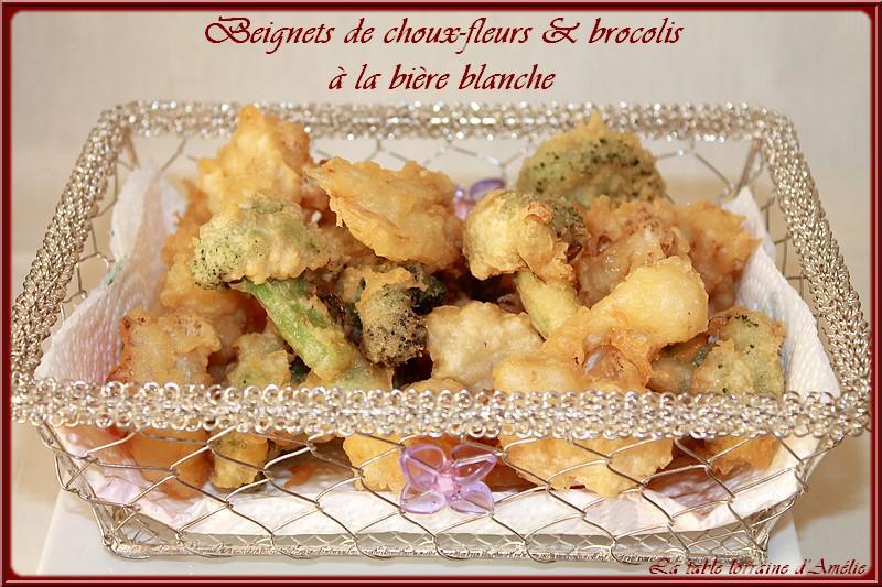 La table lorraine d 39 amelie beignets de choux fleurs et brocolis a la biere blanche - Pate a beignet a la biere ...