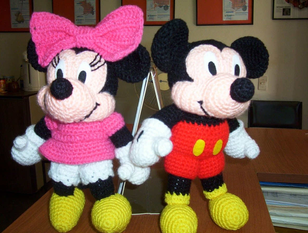 Amigurumi De Mickey Mouse Paso A Paso : Instructions Mickey Mouse Afghan Joy Studio Design ...