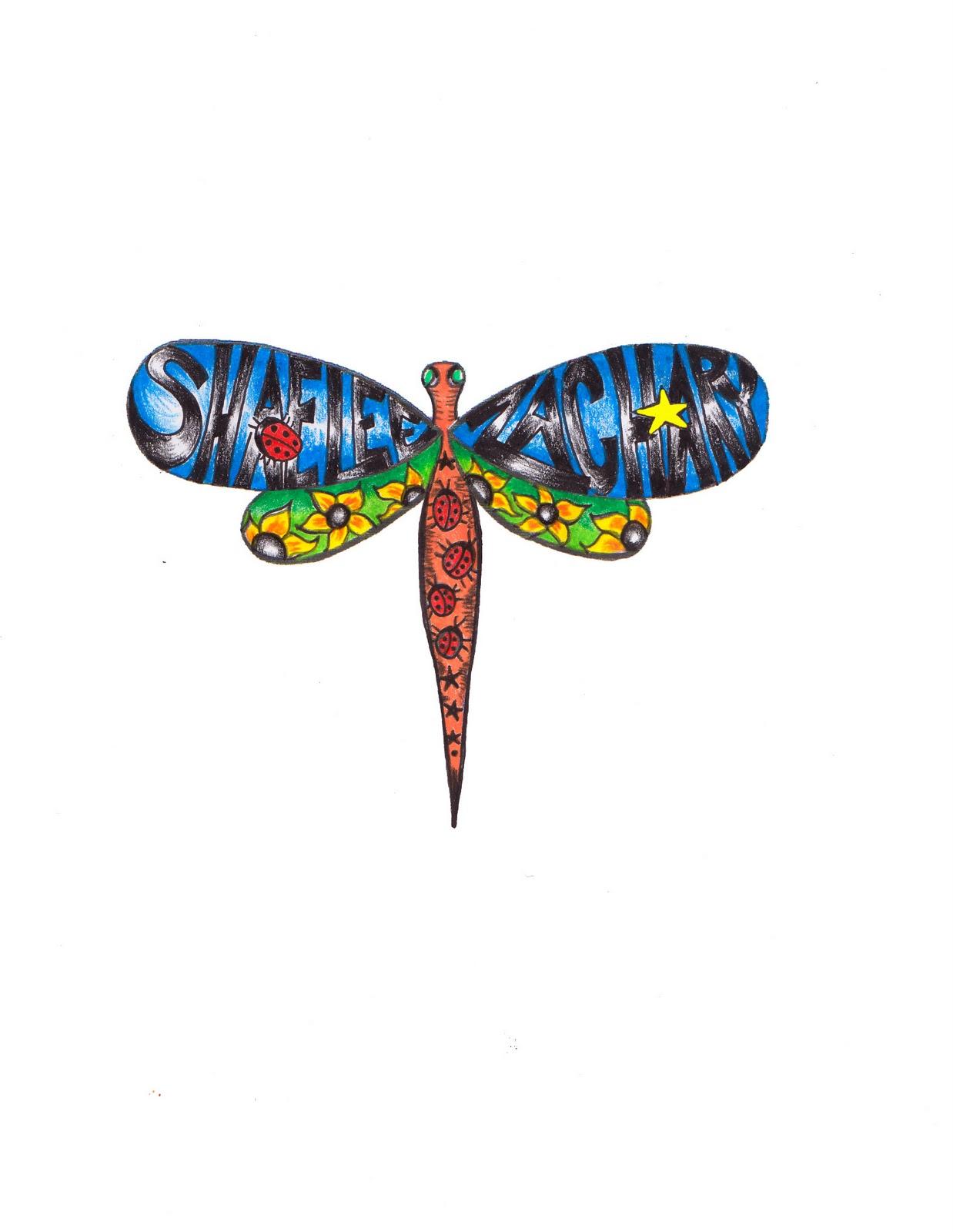 Kim Nicholls A Painter Custom Tattoo Designer A Dragonfly Full