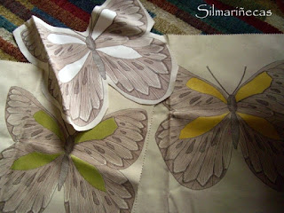 cojines en forma de mariposa-