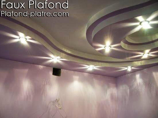 plafond suspendu mauve