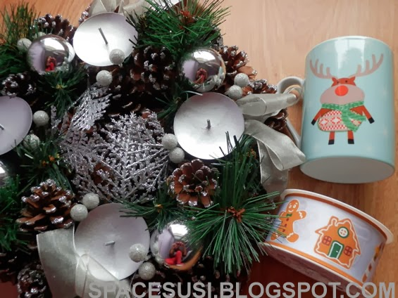 Tesco, nákupy, Kik, adventní věnec, vánoční výzdoba