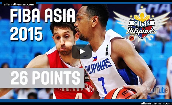 WATCH: Jayson Castro's 26 Points vs Iran (VIDEO) - FIBA Asia 2015
