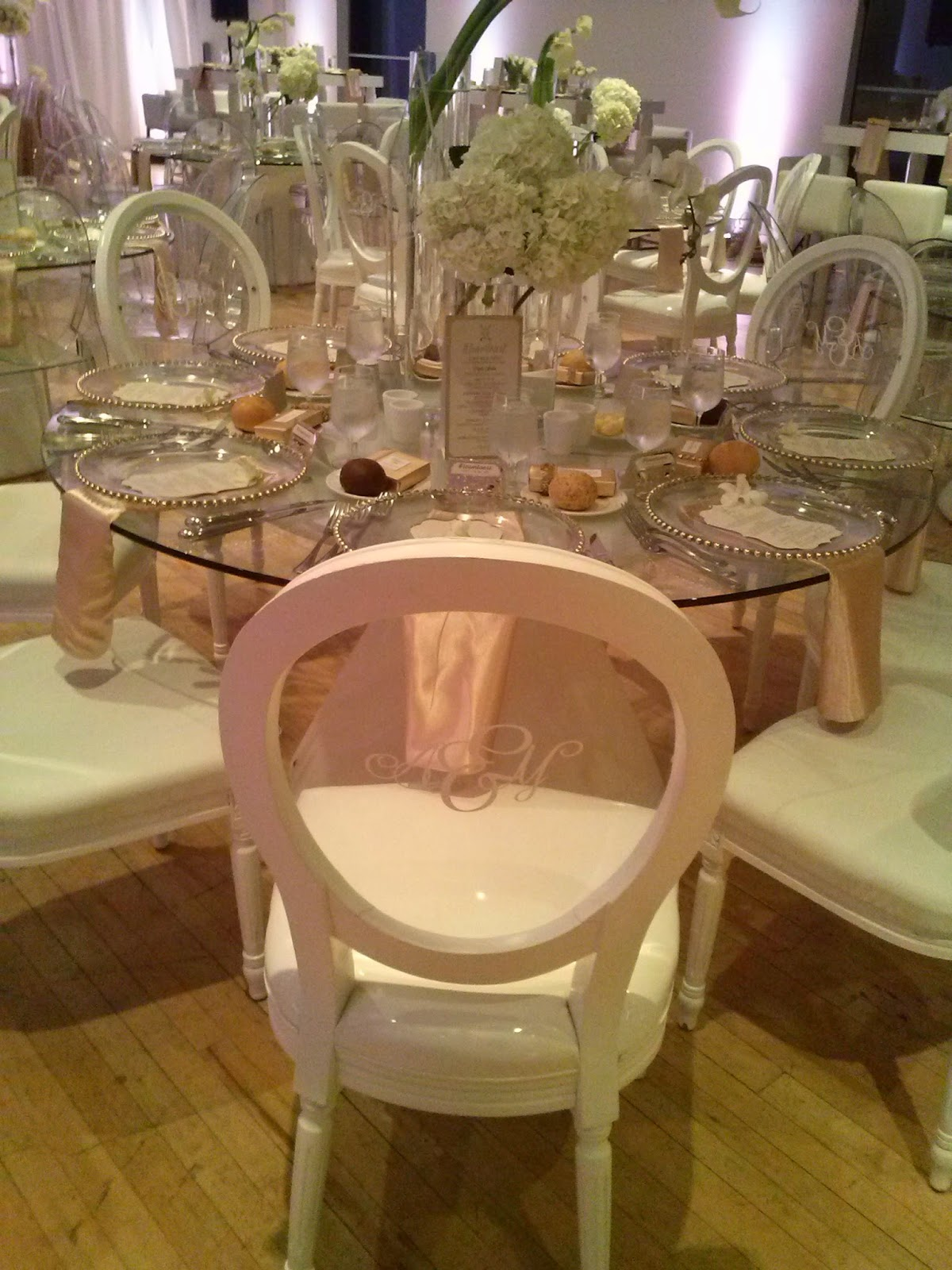 Custom Monogram Ghost Chairs