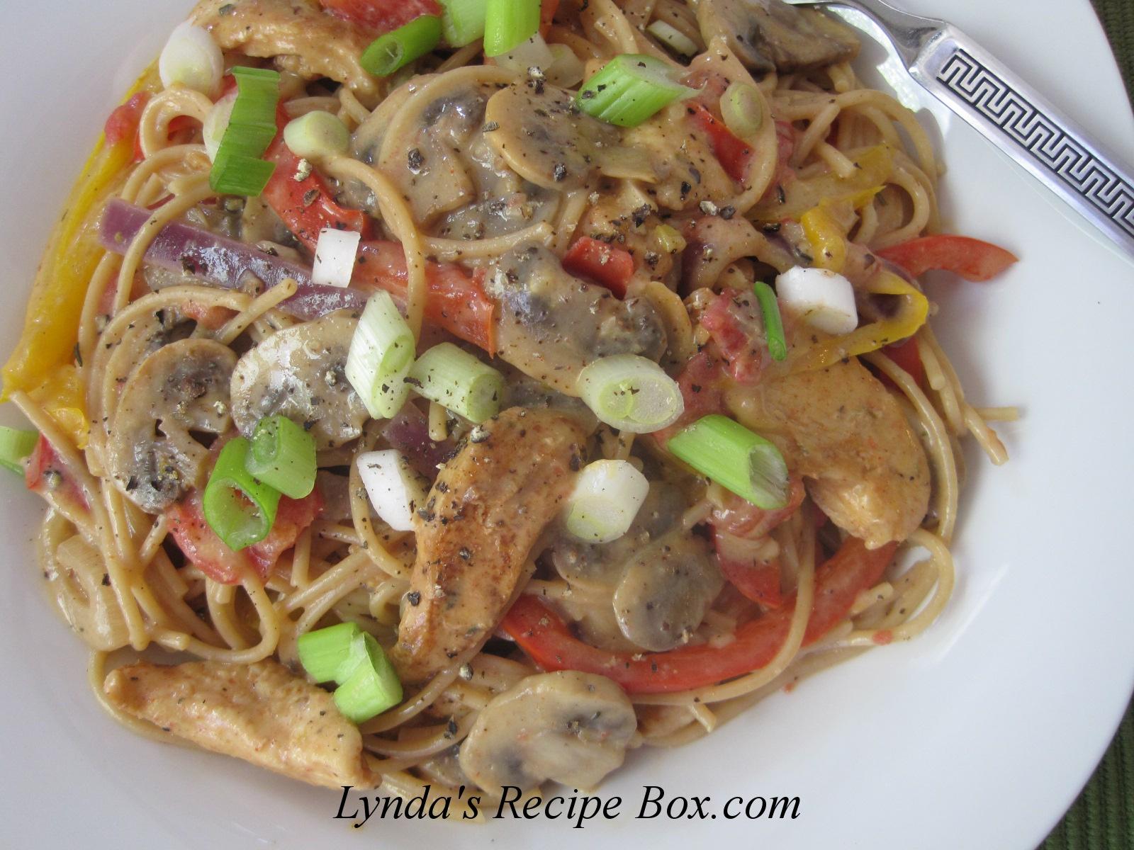 Lynda's Recipe Box: Cajun Chicken Pasta - On the Lighter Side