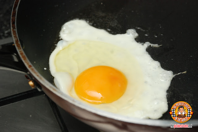 fried brown egg