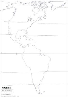 Mapa mudo de America