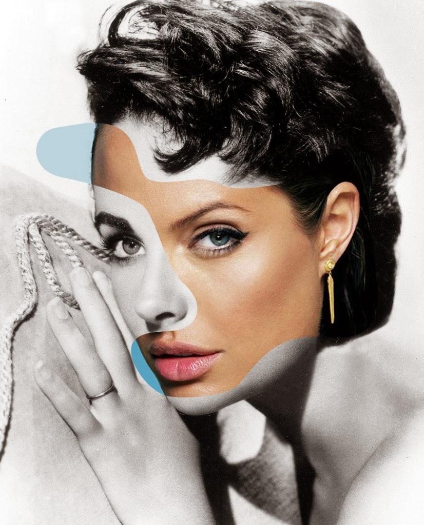 01-Elizabeth-Taylor-Angelina-Jolie-icon-Actor-Mashup-Photos-George-Chamoun-www-designstack-co