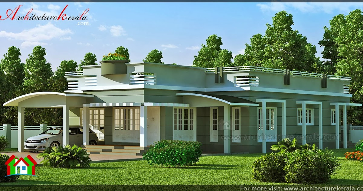 3 bedroom single storey house architecture kerala for Single storey 3 bedroom house plans in kerala