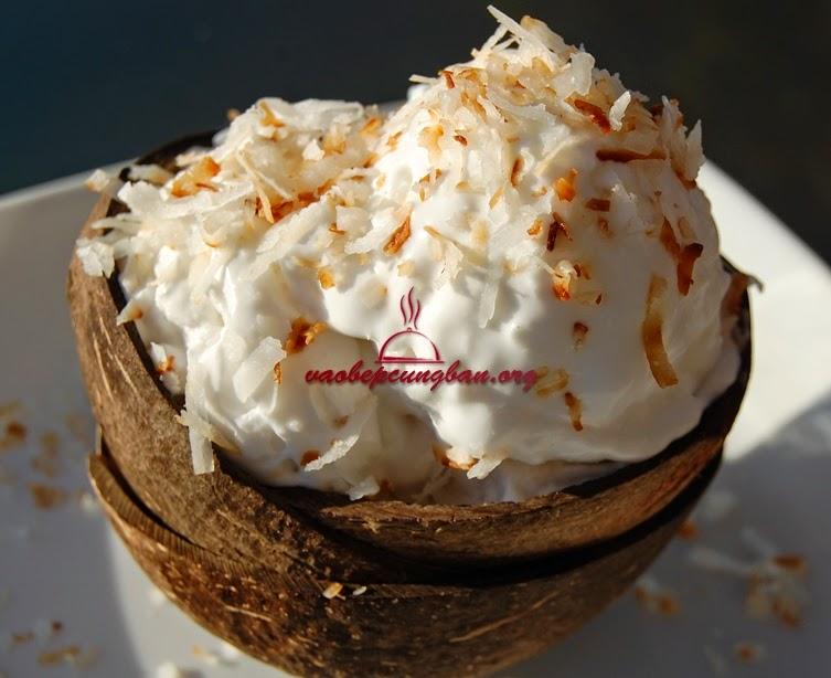 Cách làm kem Dừa thơm ngon tại nhà không cần máy 2