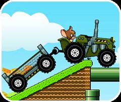 chơi game Tom và Jerry lái máy cày
