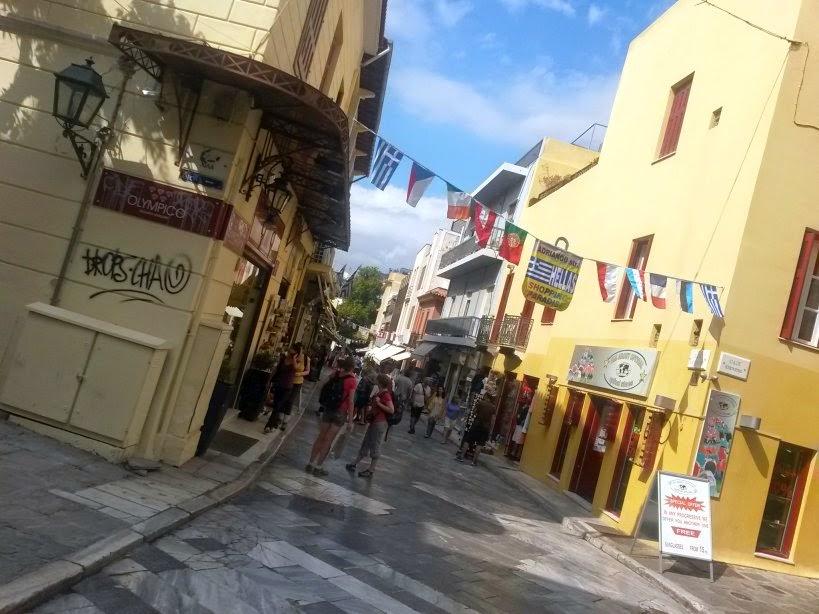 Adrianou street in Plaka