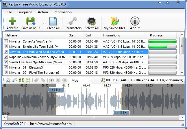 برنامج free audio extractor 2014 لاستخراخ الصوت من الفيديوهات اخر اصدار