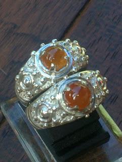 natural orange garnet