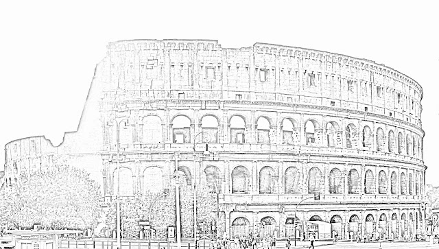 Colosseum sketch side view