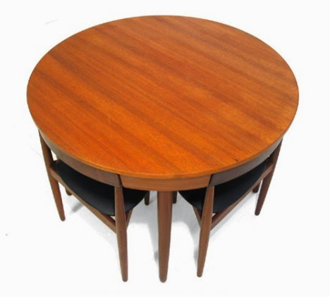 compact dining set by Hans Olsen