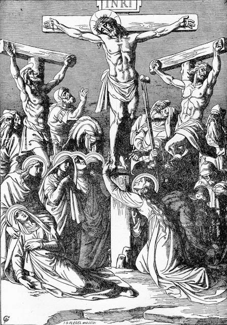 Jesus Crucified Between Two Thieves   - Artist unknown