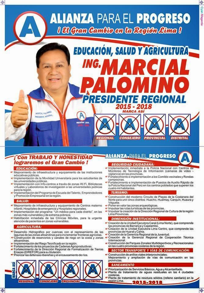 MARCIAL PALOMINO  - PRESIDENTE REGIONAL