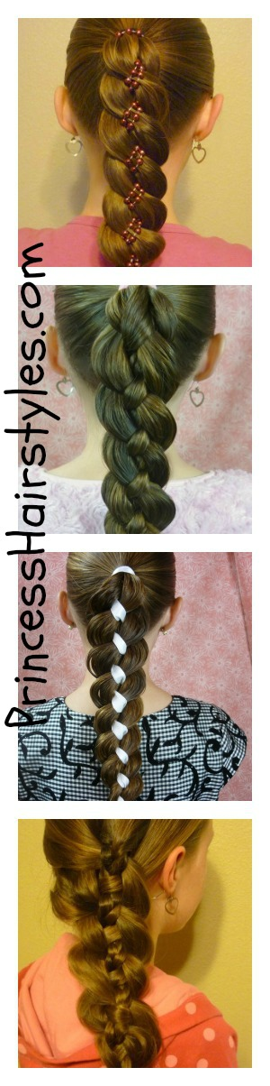 Hairstyles for girls princess hairstyles four strand braid variations ccuart Gallery
