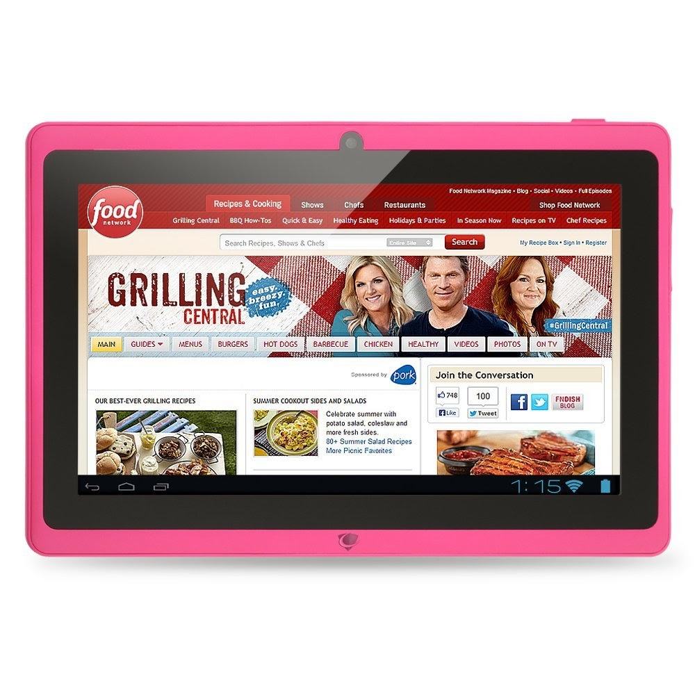 "Chromo Inc.® 7"" -Tablet PC Android 4.1.3 Capacitive 5 Point Multi-Touch Screen - Pink"
