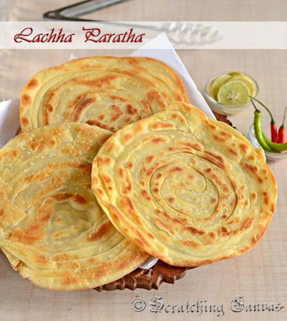 ... the recipe of Lachha Parathaor Crispy Flaky Layered Indian Flat Bread