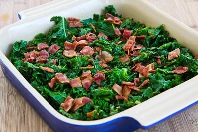 Kalyn's Kitchen®: Kale, Bacon, and Cheese Breakfast Casserole Recipe