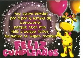 Frases Para Cumpleaños: Hoy Quiero Brindar Por Ti Por La Fortuna De Conocerte