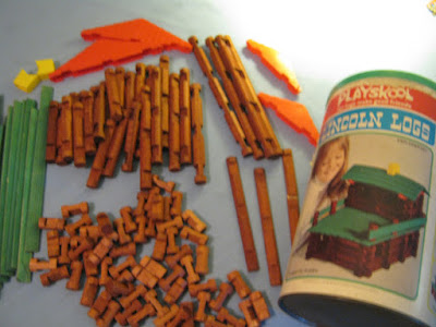 Lincoln Logs... I never stopped playing with these things!