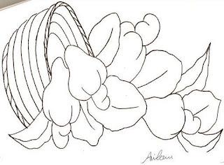 desenho de cesta de cajus