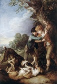 Two Shepherd Boys with Two Dogs Fighting by Thomas Gainsborough, image copyrighted by English Heritage Prints