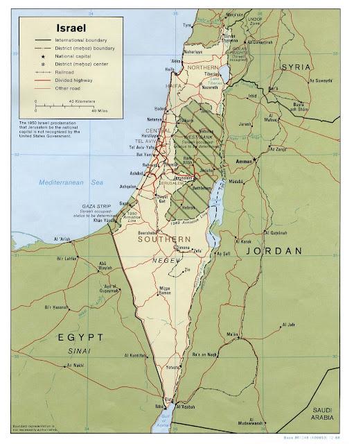 Israel mapa político