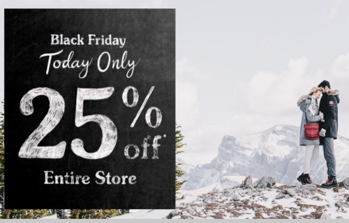 Roots Black Friday 25% Off Entire Store