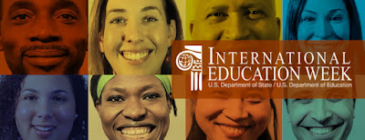 2015 poster for International Ed Wee.  Montage of images of people.