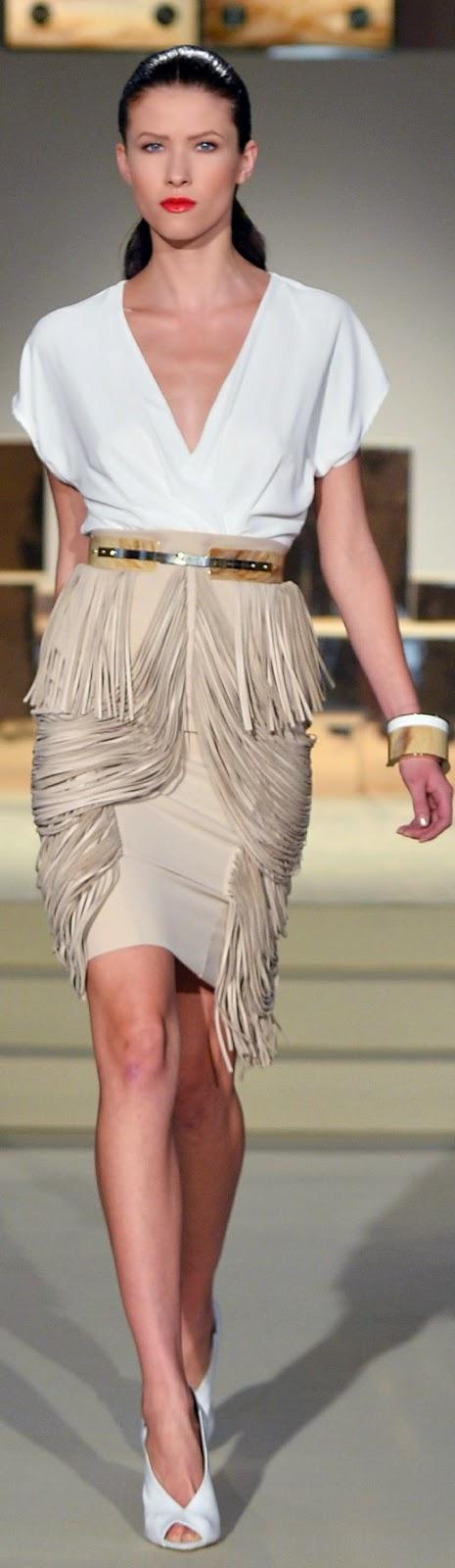 Best Women's Fashion Show. in white bluse &white shuws
