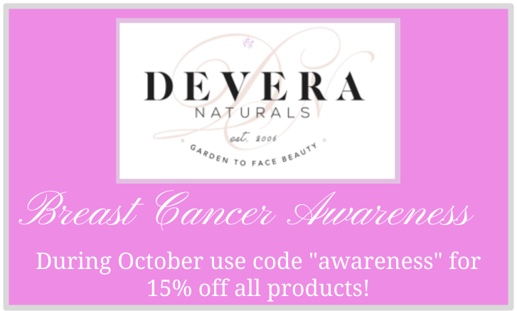 """Awareness"" 15% discount code @ Devera Naturals"