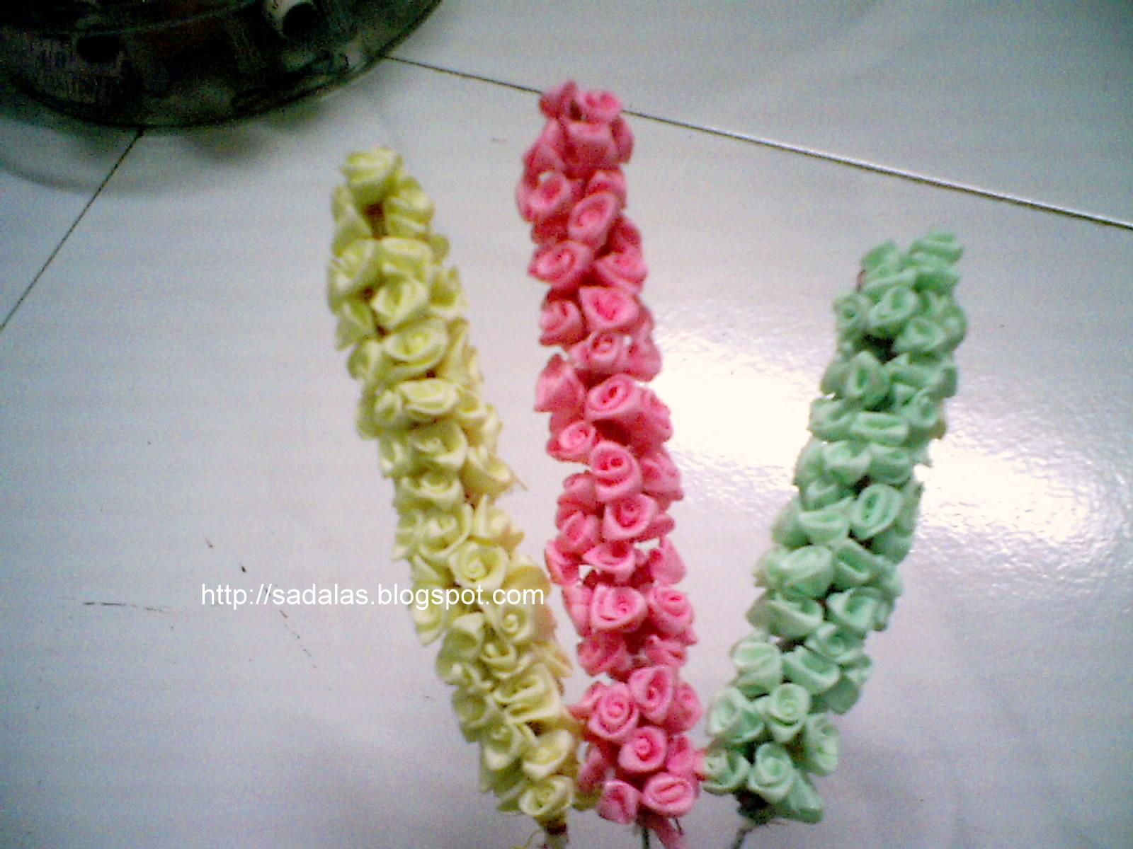 Sadalas Embroidery Satin Ribbon Flowers